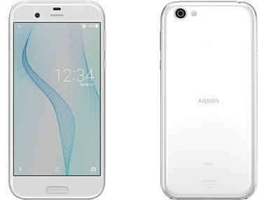 AQUOS Rのデザイン 白バージョン