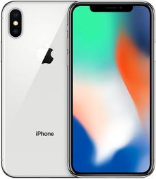 iphone x の外観 シルバーバージョン
