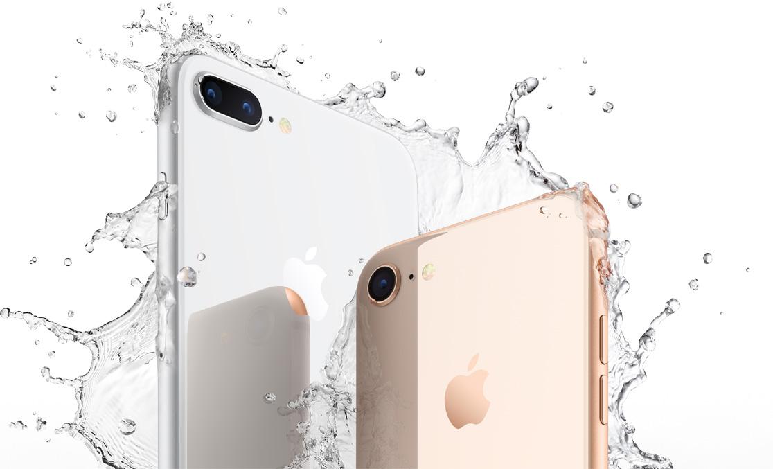 iPhone 8/8 plusの防水性能を紹介している
