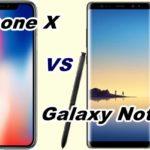 【比較】iPhone XとGalaxy Note8を比べてみた!