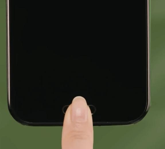 AQUOS Rの指紋センサーが搭載