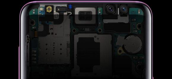 Galaxy S9 SCV38 虹彩認証は内部に隠されている