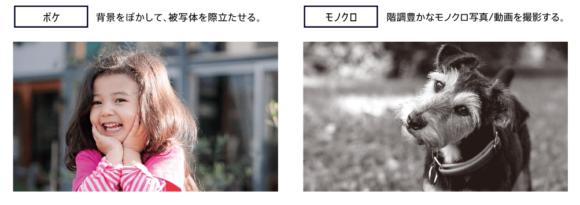 XZ2 Premium ボケ・モノクロ撮影の解説