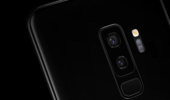 Galaxy s9 SCV38 カメラ部分を強調