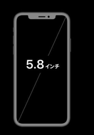 iphone XS画面サイズ