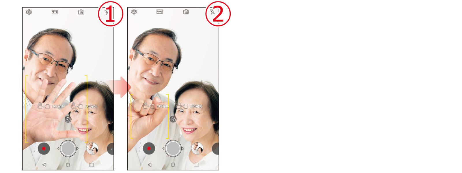 LG it ジェスチャー撮影