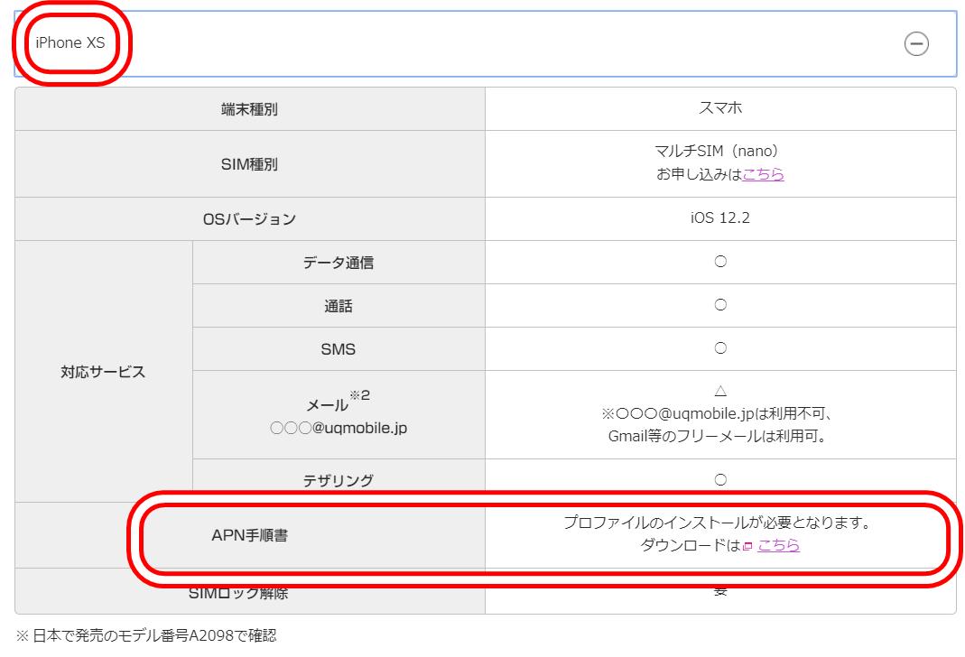 iPhone APN設定方法 (1)