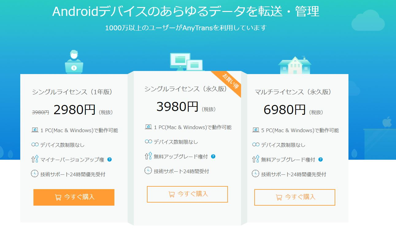 anytrans 価格 android
